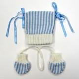 Bonnet BB Romance Bleue T- 6 Mois