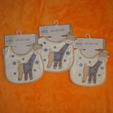 Lot de 3 Bavoirs bleus Girafe