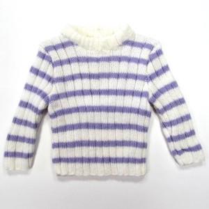 Pull Chaussette Léna tricot rayé banc